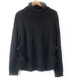 Cynthia Rowley Side Bow Turtleneck Sweater